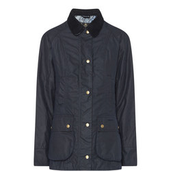 Abbey Wax Jacket Blue