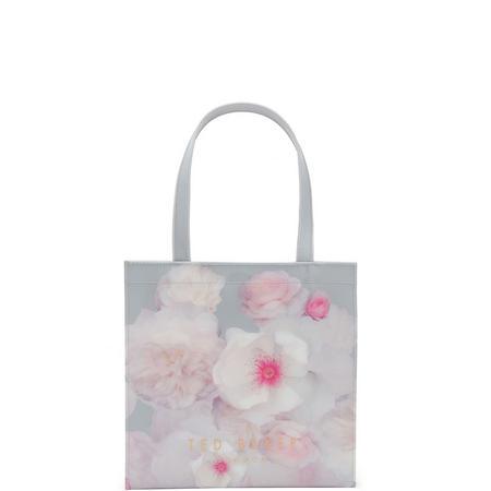 Cerycon Floral Print Small Shopper Bag Grey