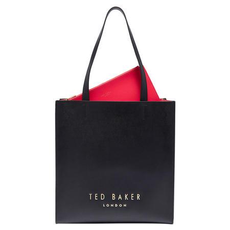 Elissa Leather Shopper Bag Black