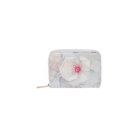 Malina Chelsea Leather Mini Wallet Grey