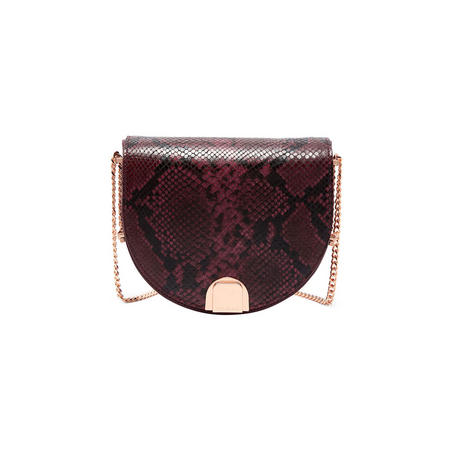 Annii Mini Exotic Leather Crossbody Bag Red