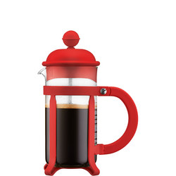 3 Cup Java Coffee Maker French Press Red