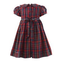 Baby Tartan Frill Dress With Bloomers Red