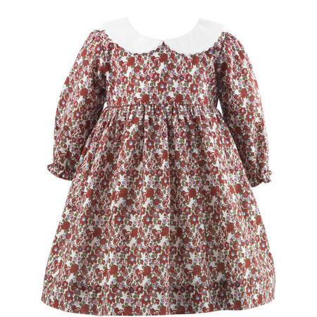 Baby Floral Print Dress With Bloomers Red