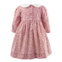 Babies Floral Peter Pan Collar Dress Pink