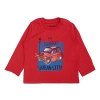 Babies Long Sleeve Car T-Shirt Red