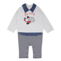 Babies Plane Baby Suit Grey