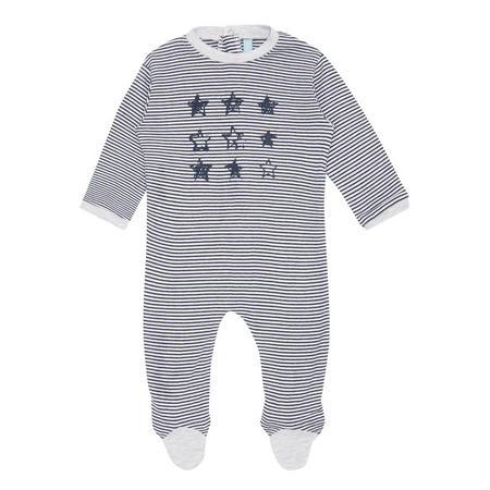 Babies Stars & Stripes Bodysuit Grey