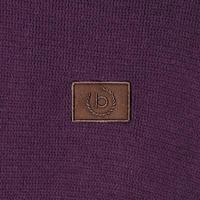 Suede Trim Half-Zip Sweater Purple