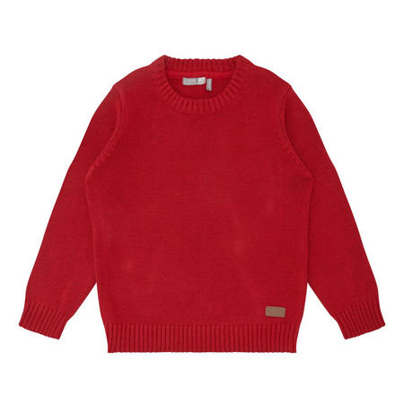 Boys Crew Neck Sweater Red