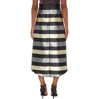 High-Low Striped Skirt Multicolour