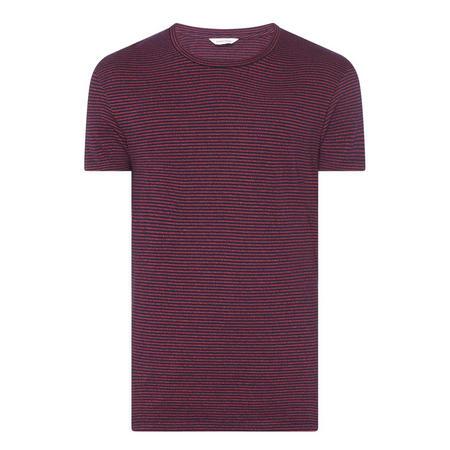 Kronos Stripe Crew Neck T-Shirt Red
