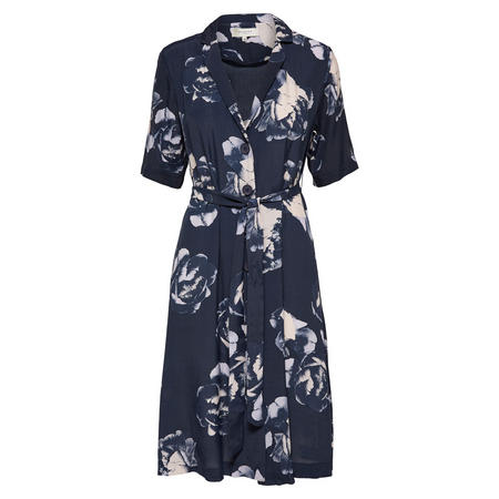 Tamira Rose Print Shirt Dress Blue
