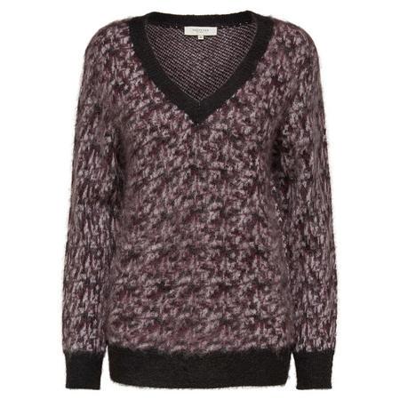 Maline V-Neck Sweater Purple