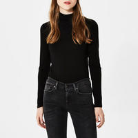 Mio Turtleneck Top Black