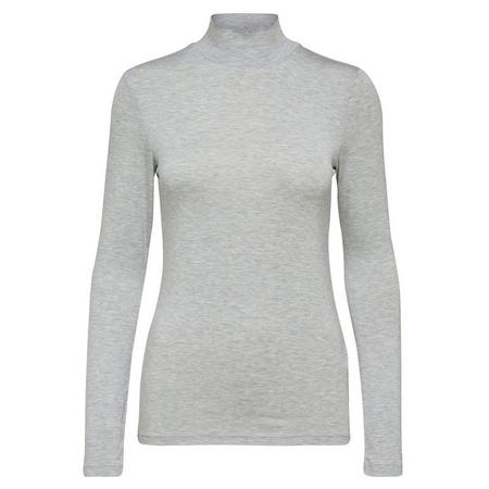 Mio Turtleneck Top Light Grey