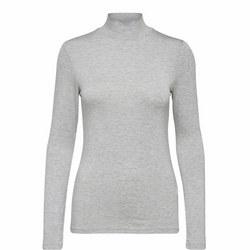 Mio Turtleneck Top Light Grey