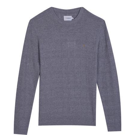 Textured Crew Neck Sweater Grey
