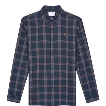 Faustine Slim Oxford Check Shirt Blue