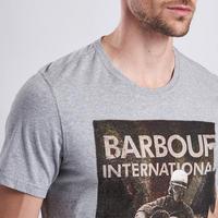 Steve McQueen Motorbike T-Shirt Grey