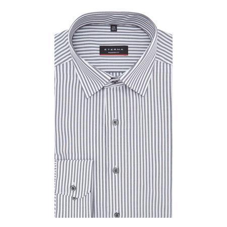 Modern Fit Stripe Shirt Grey