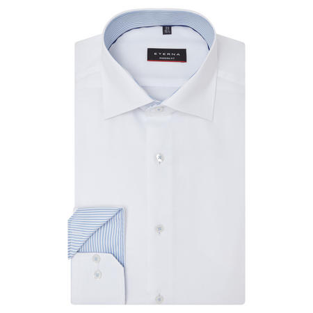 Modern Fit Textured Shirt White
