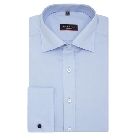 Modern Fit Natté Textured Shirt Blue