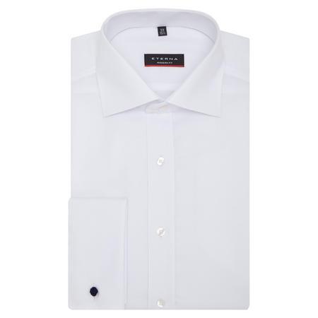 Modern Fit Natté Textured Shirt White