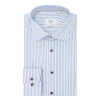 Rope Stripe Print Shirt Blue