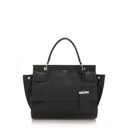 Flap Close Handbag Black