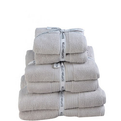 Supersoft Egyptian Towel Set Of 2 Silver