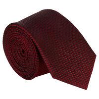 Dot Pattern Silk Tie Red
