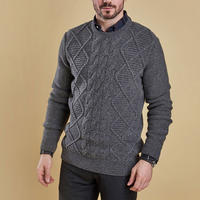 Dean Cable Knit Sweater Grey