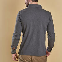 Holdford Long Sleeve Polo Shirt Grey