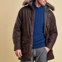 Gisburne Fur Hood Jacket Brown