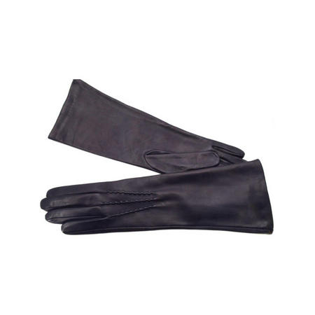 Long Leather Gloves Blue
