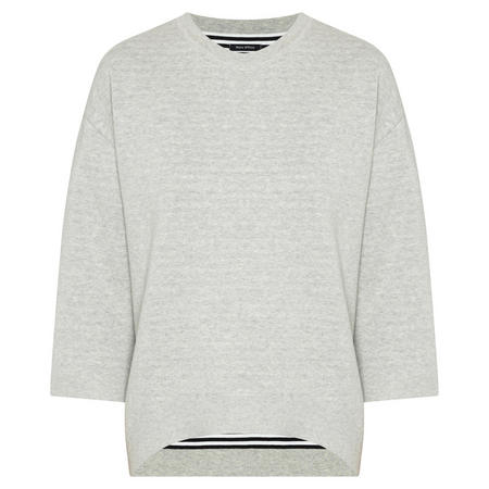 Batwing Sleeve Pullover Grey
