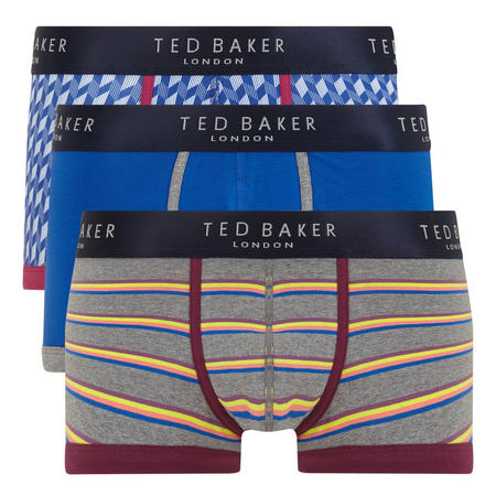 Three-Pack Fitted Boxer Shorts Multicolour
