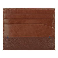 Leather Card Holder Brown