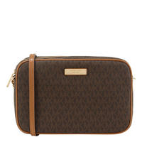 Jet Set Large Logo Crossbody Brown
