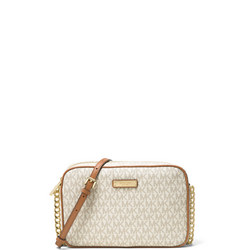 Jet Set Large Logo Crossbody Cream