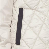 Contrast Trim Quilted Jacket Grey