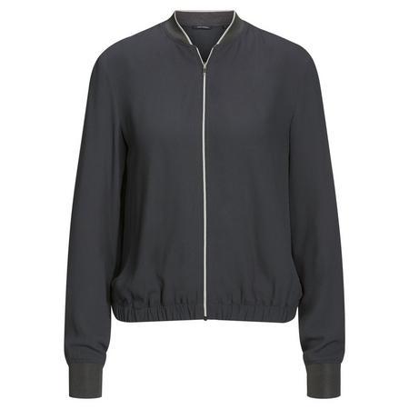 Contemporary Bomber Jacket Dark Grey