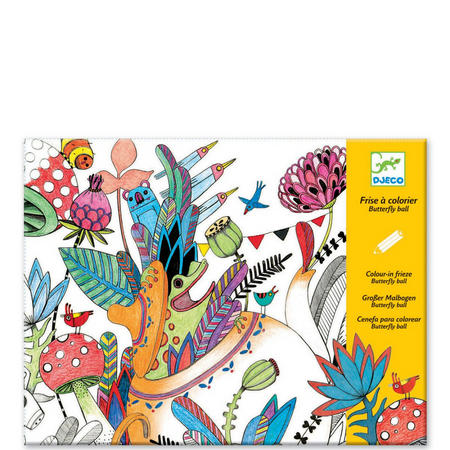 Butterfly Ball Colouring Poster