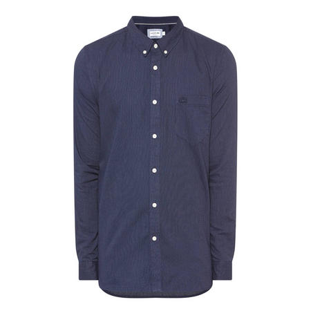 Pinpoint Pattern Shirt Navy