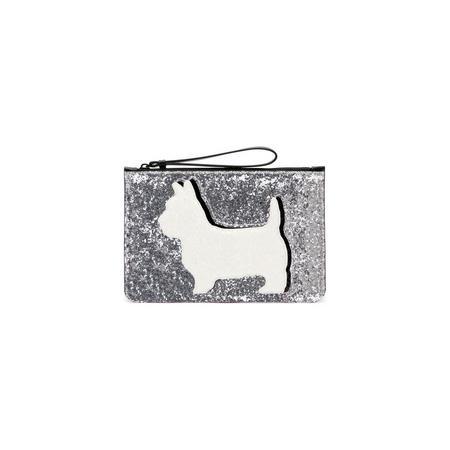 Daphne Dog Medium Pouch Silver-Tone