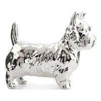 Daphne Dog Clutch Bag Silver-Tone
