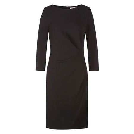 Gathered Waist Dress Black