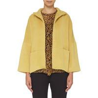 Cropped Swing Coat Yellow