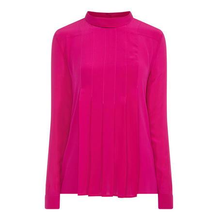Casa Pleated Silk Blouse Pink